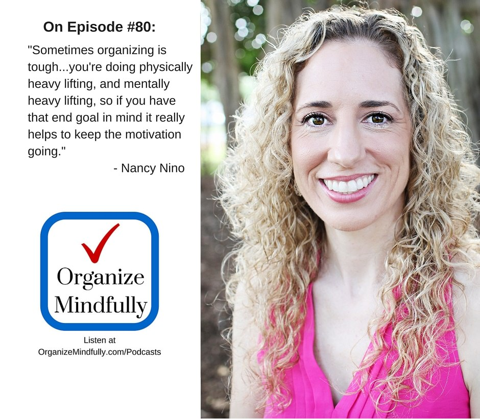 """Nancy's feature on """"Organize Mindfully"""" podcast"""